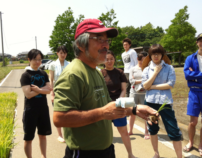 Mr. Kobayashi, the local farmer and an educator