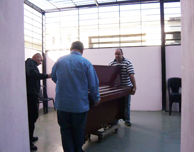 Piano was specially brought in for the concert