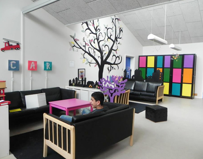 A bright specious lounge at the shool