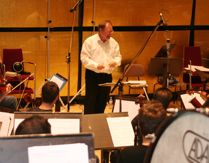 Niels Muus, the artistic leader and the conductor of the recording